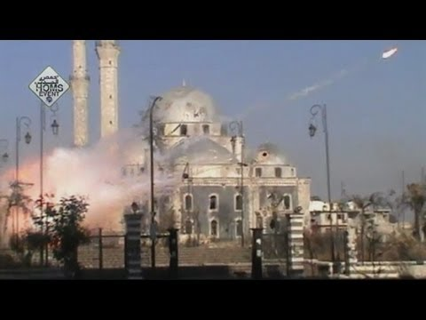 Terrifying explosions on Syrian skyline: Shelling in Damascus and Homs
