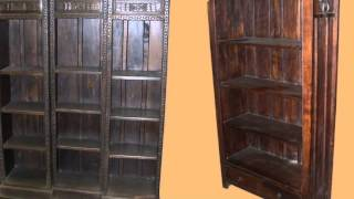Rustic Solid Wood Bookcases