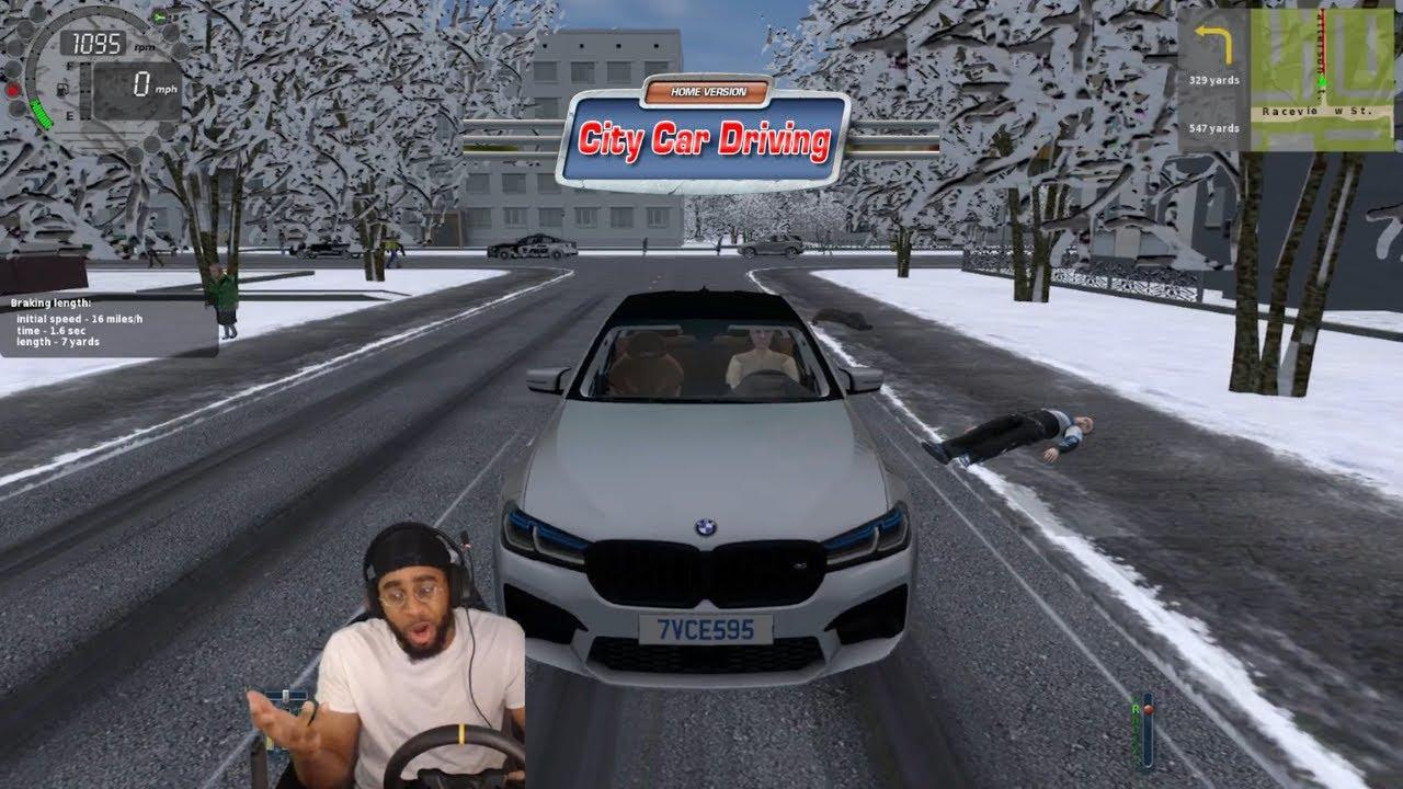 Ubering on ICE really wasn't the greatest idea lmaooo - City Car Driving