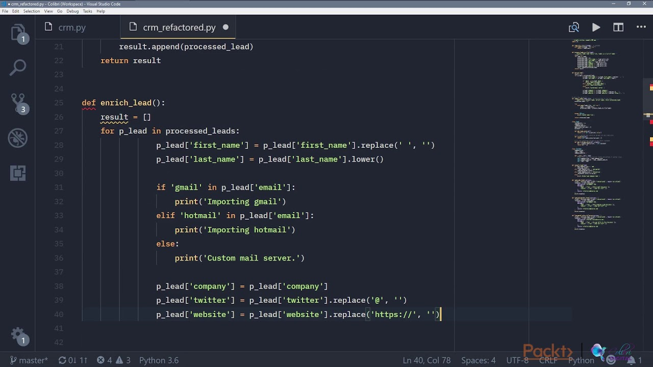 Refactoring Python Code: Refactoring Through Splitting Up  Functions|packtpub com