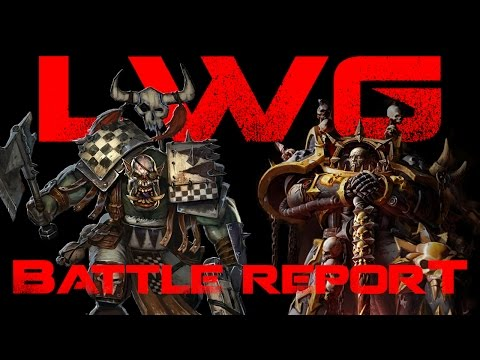 Orks vs Chaos Space Marines - 2,000 Point Warhammer 40k Battle Report