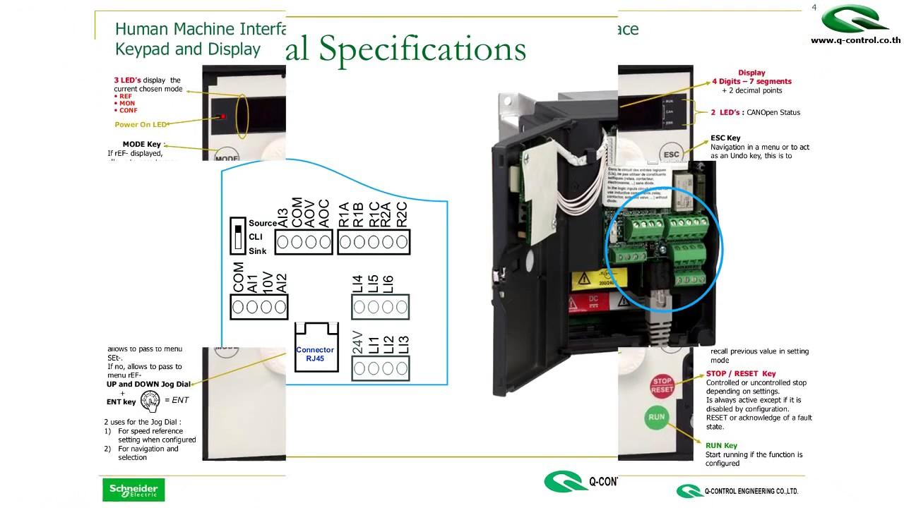 Atv312 Wiring Diagram Canopen Schneider 31 32 Youtube