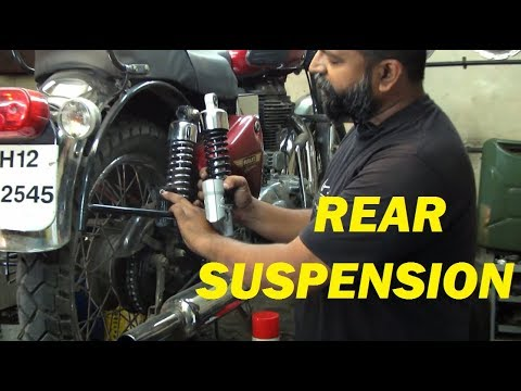 How to replace Royal Enfield rear Shock Absorber / SUSPENSIONS | TUTORIAL