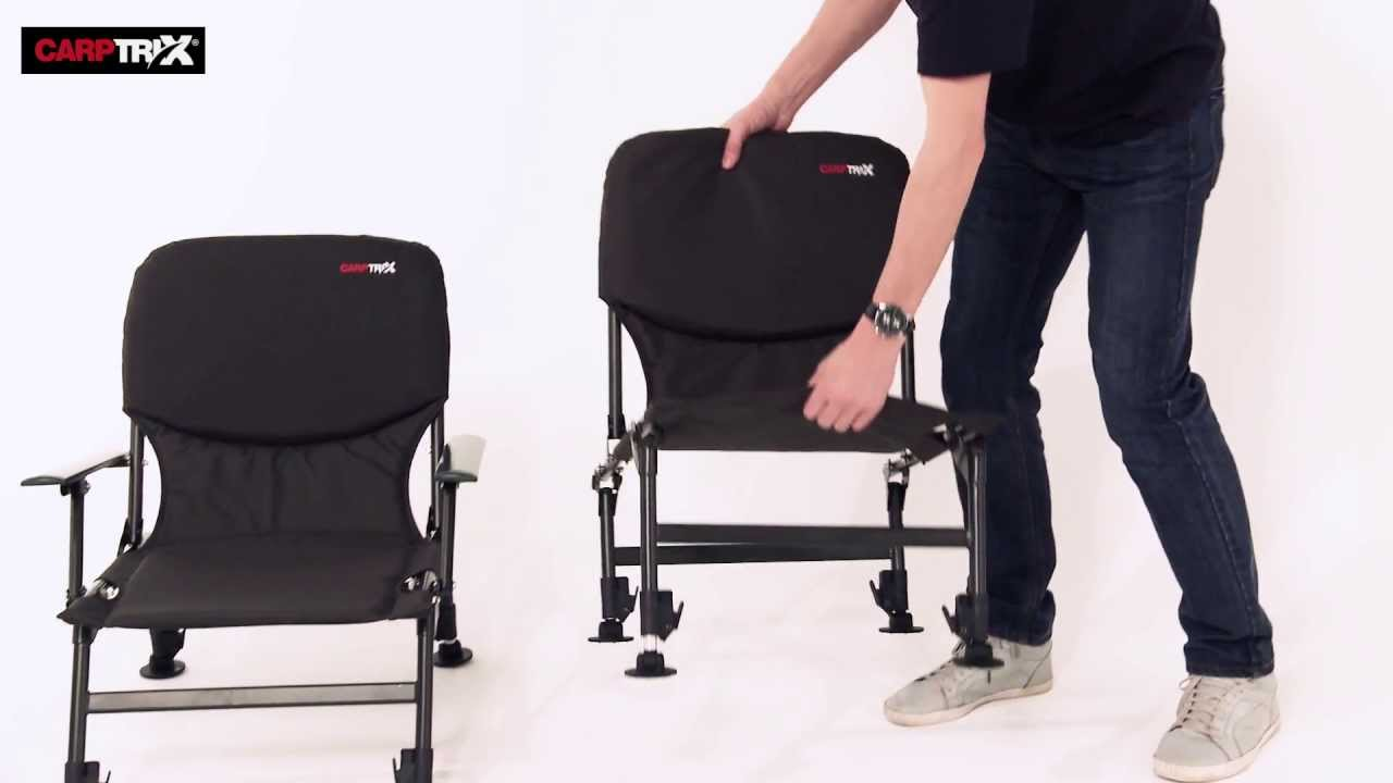 fishing chair legs canvas sling all round arm carptrix youtube