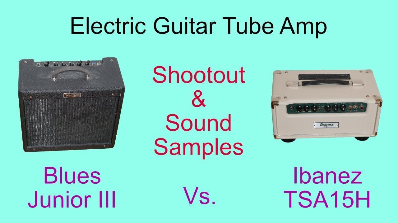 2c7155237 Tube Amp Demo with Sound Samples  Fender Blues Junior III vs. Ibanez TSA15H  stack