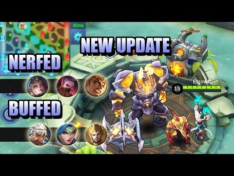 NEW UPDATE - NERF, BUFF AND NEW MAP - MOBILE LEGENDS NEWS