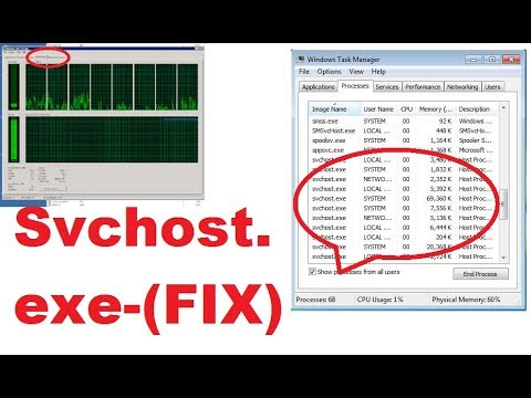 svchost exe running at 100