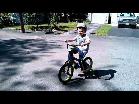 Ethan on his bike