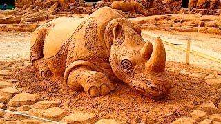 Скульптуры из песка.Картинки,слайд шоу-Рicture Show