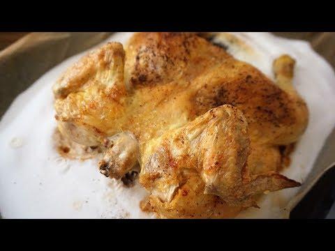 КУРИЦА НА СОЛИ самая вкусная жареная курица