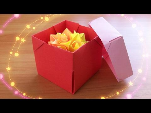 Коробочки с крышкой своими руками из бумаги схемы с размерами