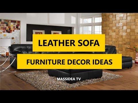 50+ Awesome leather Sofa Furniture Decorating Ideas 2018