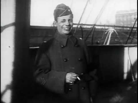 Lieutenant-Colonel Theodore Roosevelt Arrives in New York after the World War