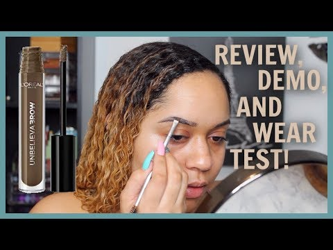 BROW TATTOO ? 👀 LOREAL UNBELIEVABROW DEMO + WEAR TEST 🕒 | Micaylah