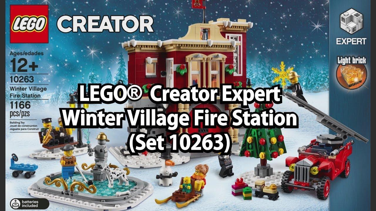 Lego Winter Fire Station Creator Expert Set 10263