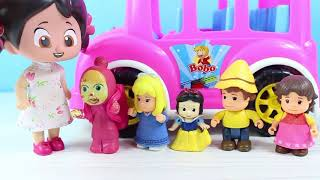 Niloya Maşa Heidi Clara Ve Peter Okula Gidiyor Parkta Oyun Oynuyor Parmak Şarkısı Söylüyor