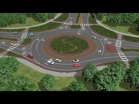 Panama City Airport Roundabout