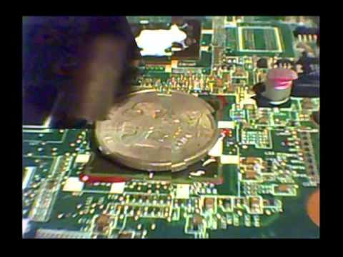 Removal of red compound from BGA microchip