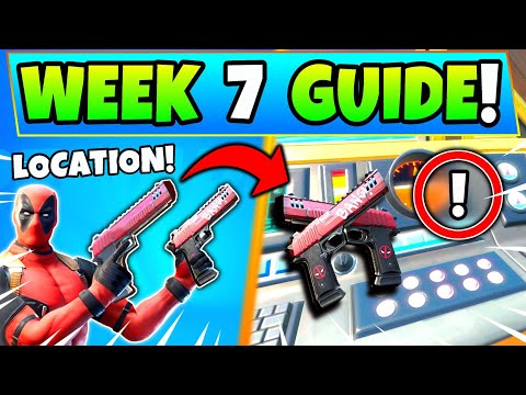 Fortnite DEADPOOL WEEK 7 CHALLENGES: 2 PISTOLS + Superheroes! How To Get Deadpool Battle Royale