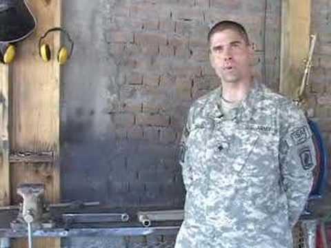 D Troop 1/91 Cav soldiers build swing arm to assist gunners