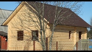 видео Проект дома из бревна 16,4 на 15,8