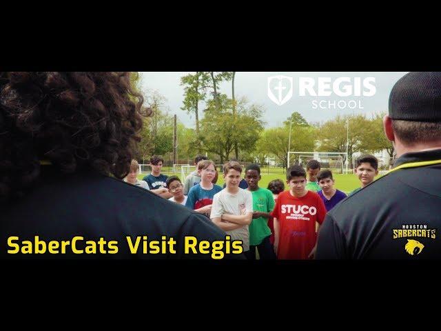 SaberCats Visit Regis