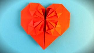Как сделать оригами сердце из бумаги схема / ПОДЕЛКИ ИЗ БУМАГИ