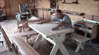 видео Дачный стол, своими руками