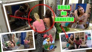 A Fazenda 10 - Perlla briga com Nadja no banheiro e xinga: