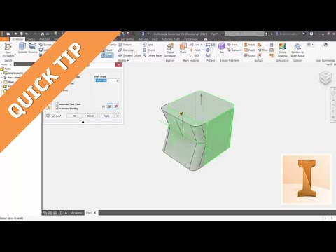 Quick Tip - Mastering the 3 Types of Draft in Inventor