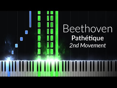 Pathetique 2nd Movement - Opus 13 No. 8 [Piano Tutorial] (Synthesia)