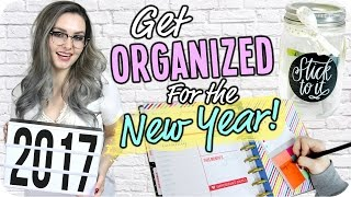 How to get Organized for 2017! Life Hacks & Tips!