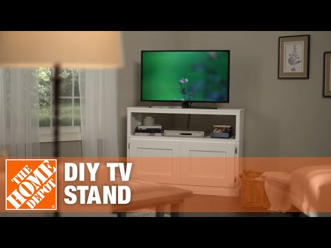 DIY TV Stand: How to Build a TV Stand | Simple Wood Projects | The Home Depot