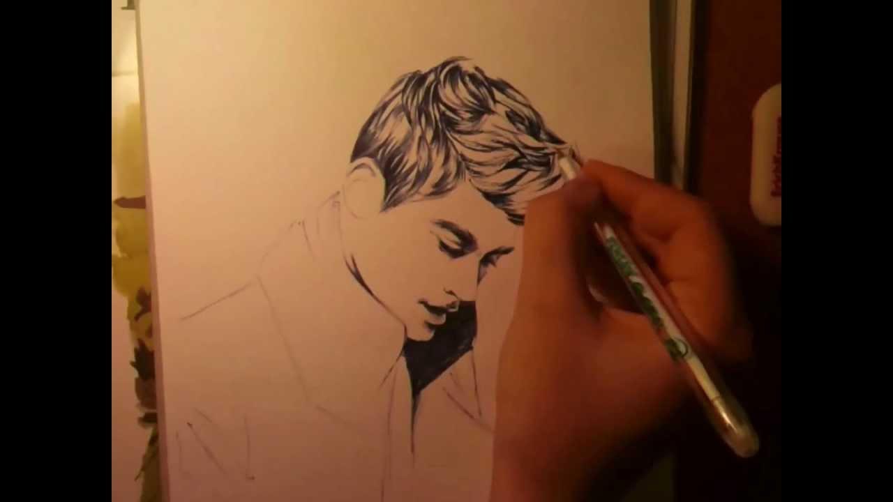 Zayn Malik Drawing Skills biro drawing of Zayn Malik by