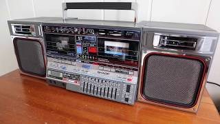 Vintage SHARP GF-800 Z(D) audio demo review 1986 year of manufacture