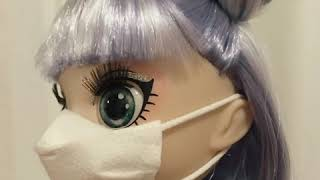 "Korona maskesi yaptık ""how to make corona mask for doll """
