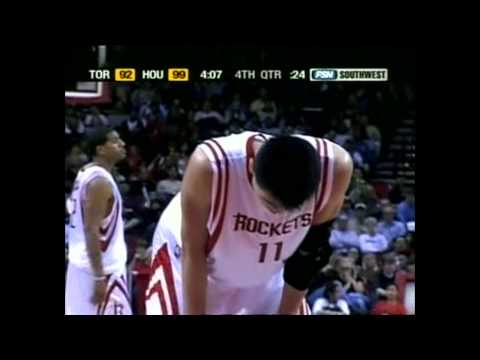 Yao Ming - Raptors at Rockets - 2004-05
