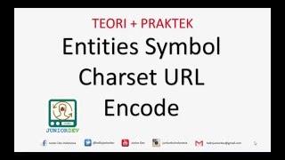 Apa itu HTML Entities - Simbol - Character Set  - URL Encode | Tutorial HTML (part 14)