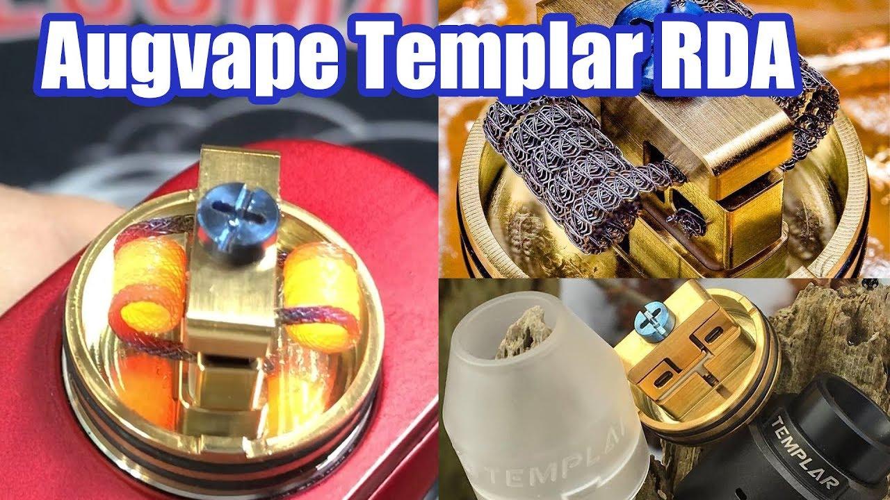 Augvape Templar RDA | Velocity Clamp System Dripper | One screw vape atty