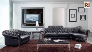 Modern Tufted Sectional Sofa and Love Seat VGBN5931