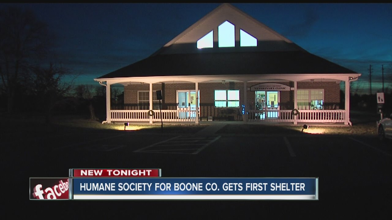 Humane Society of Boone County gets first shelter