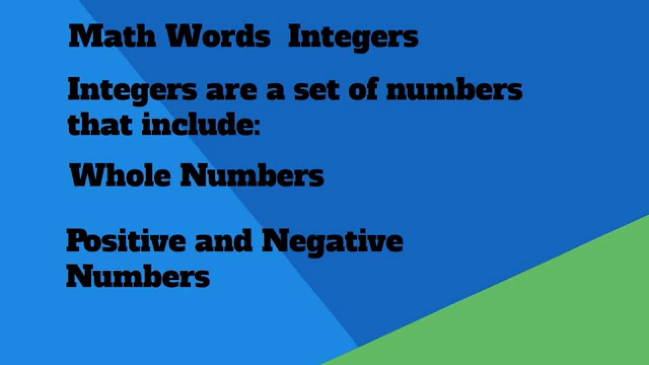 Integers Definition