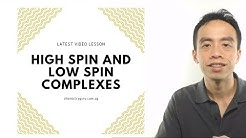 High Spin and Low Spin Complexes