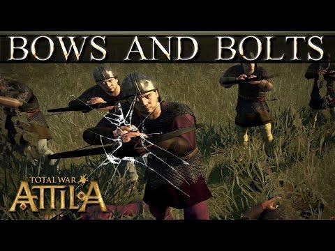 Total War Attila Mechanics -  Archers and Crossbows vs Infantry