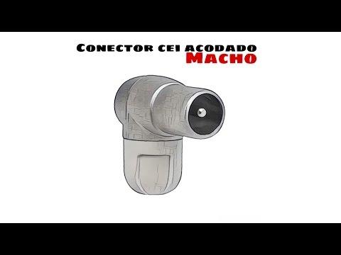 Video de Conector CEI Macho acodado 9.5mm  Gris