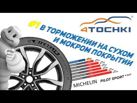 Michelin Pilot Sport 4 SUV - №1 в торможении на сухом и мокром покрыти