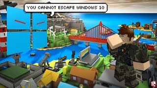 You cannot escape Windows 10 Roblox version (meme)