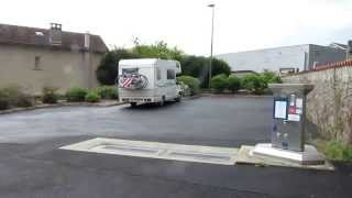Motorhome aire in Maurs La Jolie, Cantal, France
