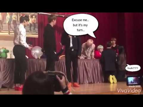 [ENG] 151217 BTS V pretends as an Army @ COEX Fan Sign