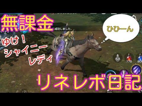 リネレボ!お馬のシャイニーレディさんをgetしました( ゚Д゚)ゞHR配合して背景狙います!